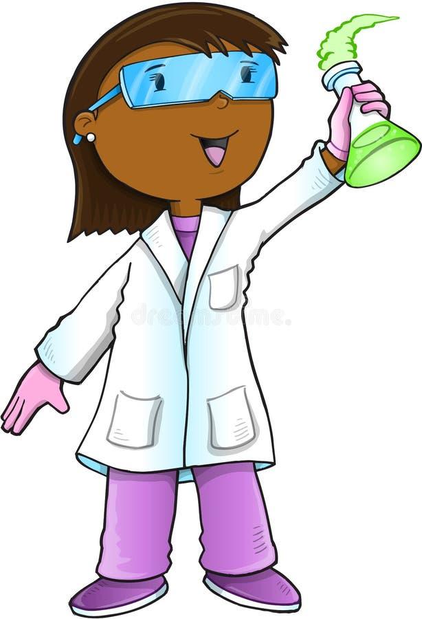 El doctor Vector del científico stock de ilustración