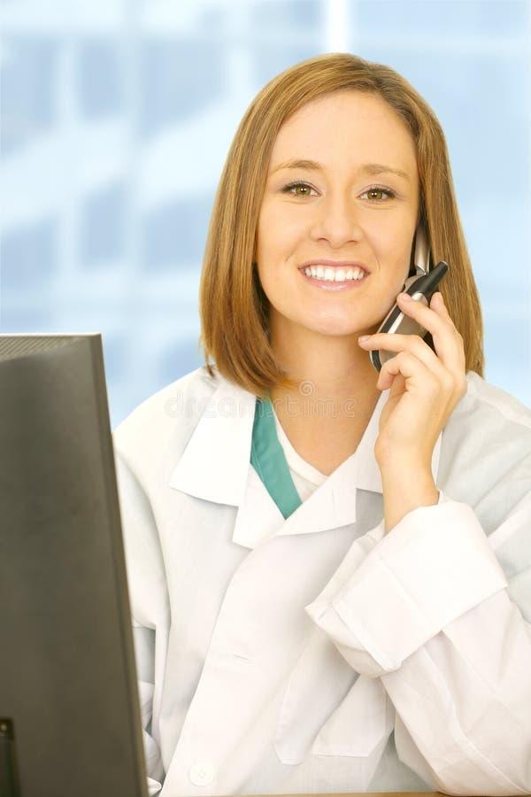El doctor Woman Calling foto de archivo