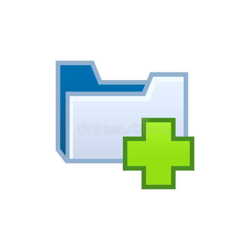 El documento del directorio del catálogo documenta el icono abierto de la carpeta de archivos Engrana el icono libre illustration
