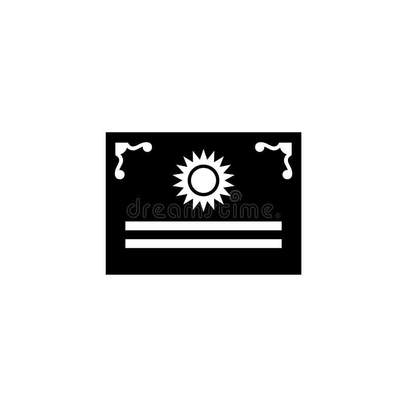 El documento jurídico, certifica el icono plano del vector stock de ilustración