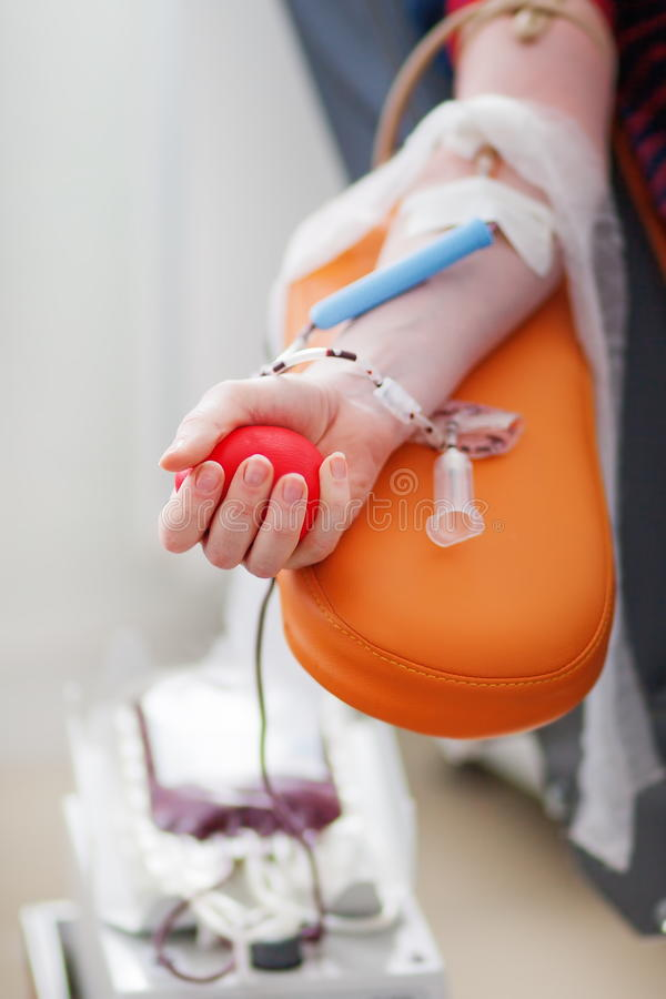 El donante da sangre fotos de archivo libres de regalías