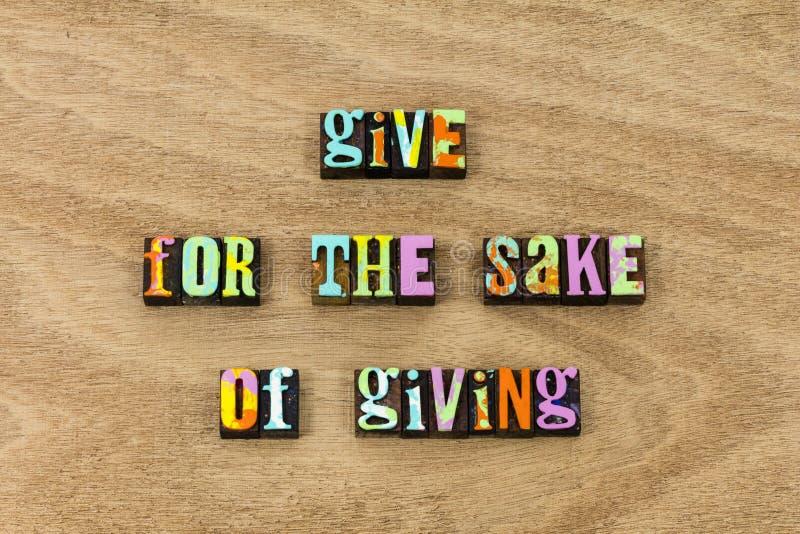 El donante Give ayuda a amabilidad para donar buena caridad de la causa imagen de archivo libre de regalías