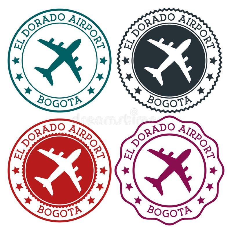 El Dorado Airport Bogota. royalty free illustration
