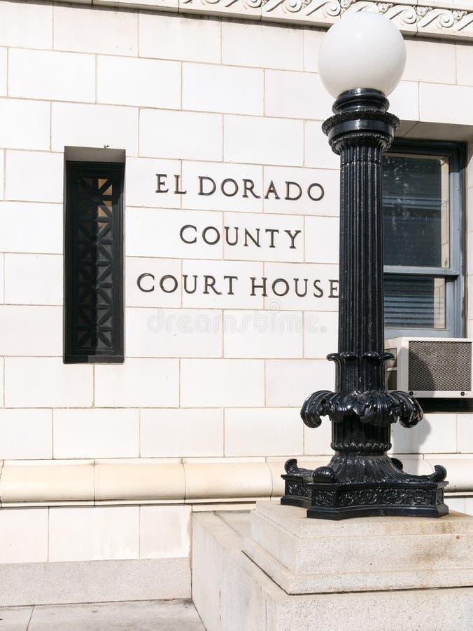 El Dorado okręgu administracyjnego, Kalifornia gmach sądu obrazy stock