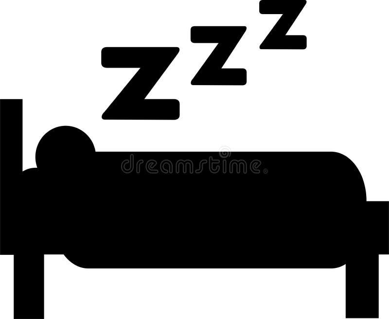 El dormir - cama ilustración del vector