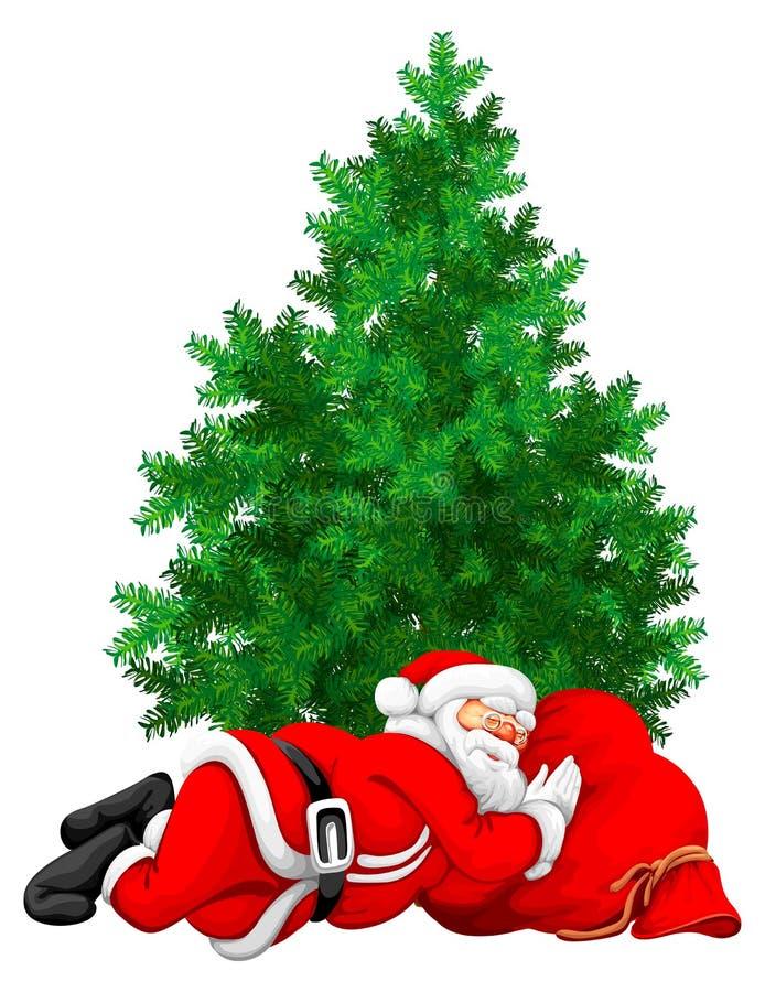 El dormir de Papá Noel libre illustration