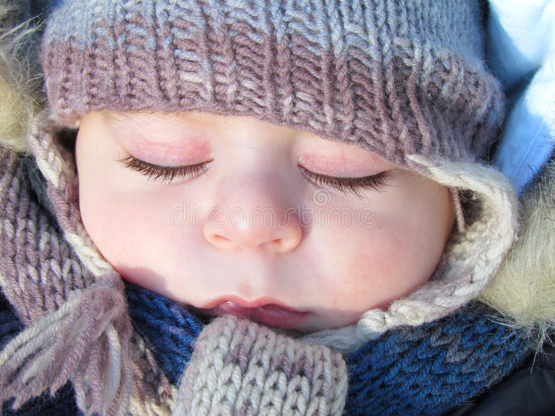 El dormir del bebé fotografía de archivo