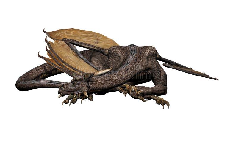 El dormir del dragón ilustración del vector