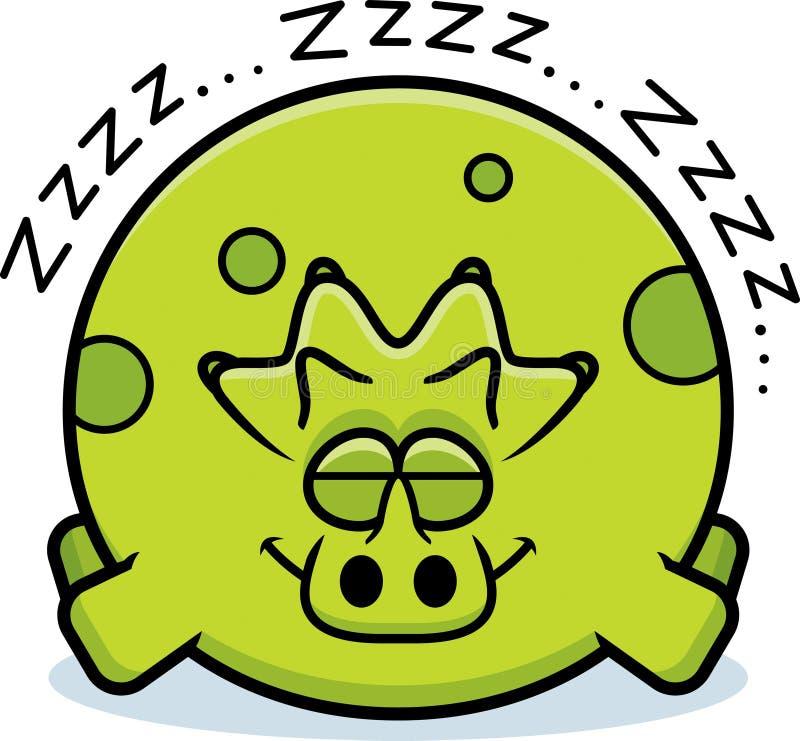 El dormir del Triceratops de la historieta stock de ilustración