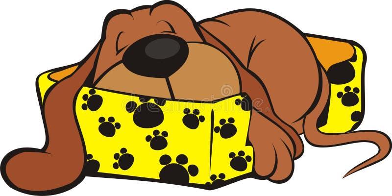 El dormir dulce del perrito stock de ilustración