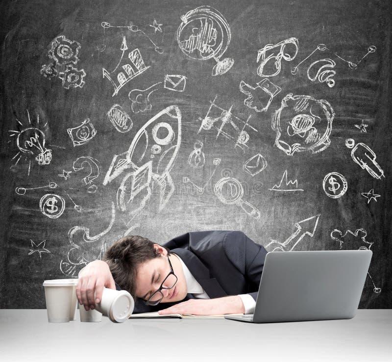 El dormir en el trabajo imagen de archivo