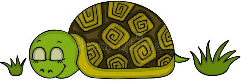 El dormir lindo de la tortuga ilustración del vector