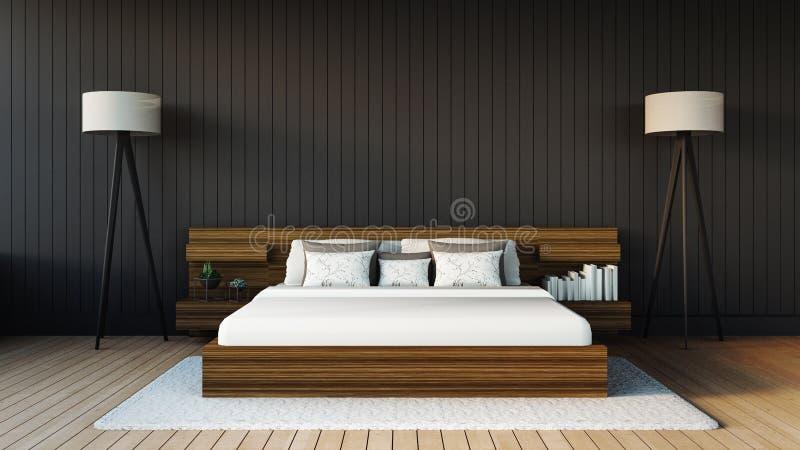 El dormitorio moderno foto de archivo libre de regalías