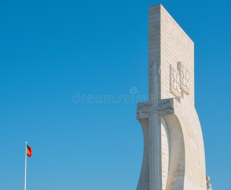 El DOS Descobrimentos, monumento de Padrao a los descubrimientos, es un monumento en el banco del río Tagus en Lisboa, Portugal fotografía de archivo libre de regalías