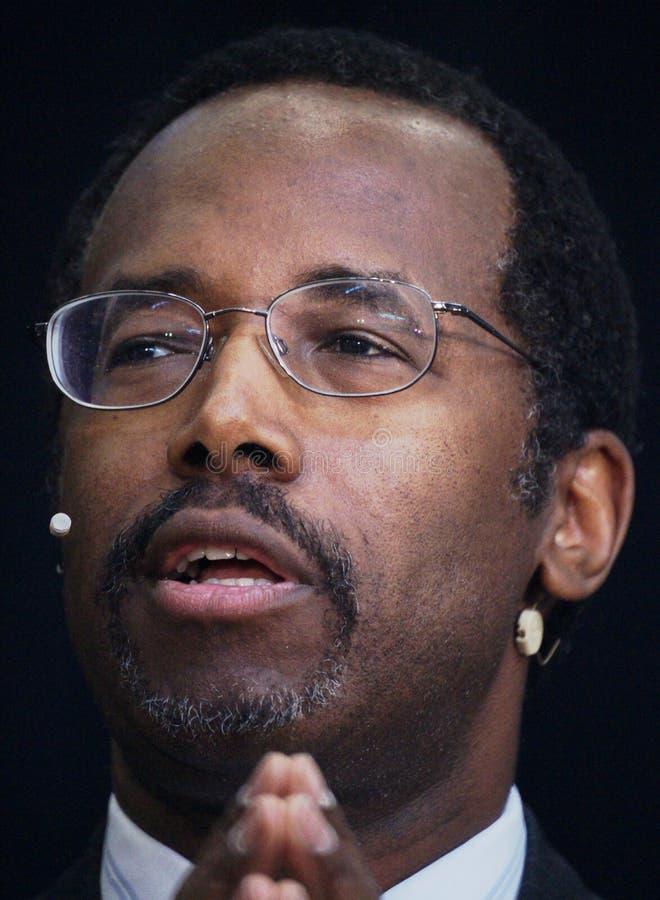 El Dr. Ben Carson foto de archivo