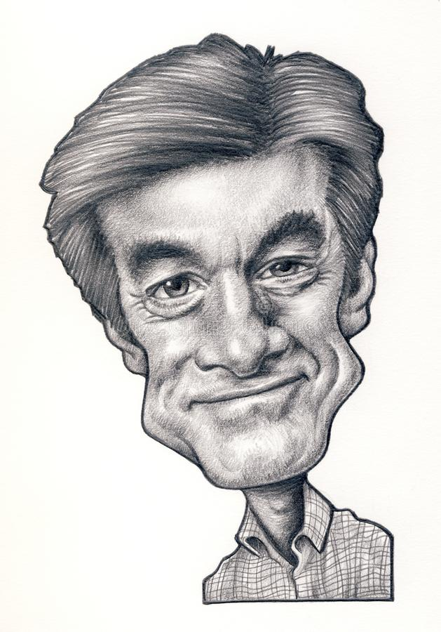 El Dr. Caricatura de la onza imagen de archivo libre de regalías