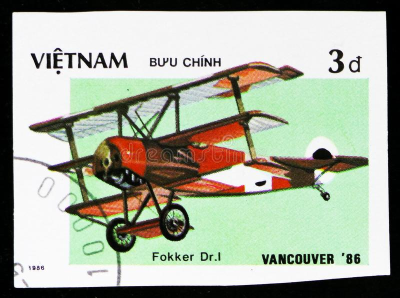 El Dr. de Fokker de los aviones 1, serie de Vancouver de la feria mundial del  del ¬Â del 'de 86ââ de la EXPO 'del ¬Å del ''de  fotografía de archivo libre de regalías