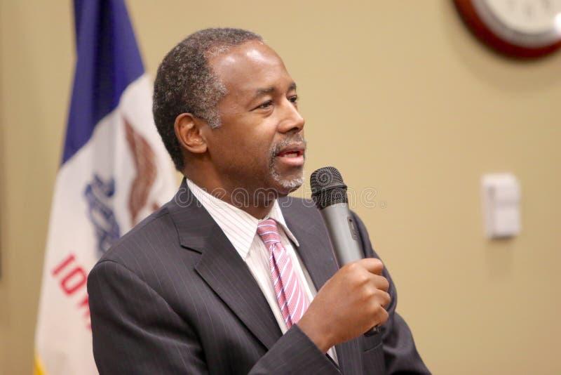 El Dr. del candidato presidencial Ben Carson foto de archivo libre de regalías