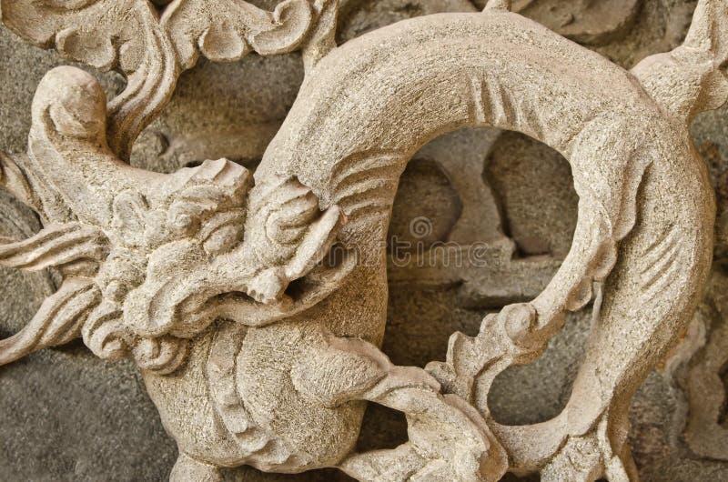 El dragón del vintage talla en templo. fotos de archivo libres de regalías