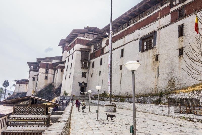 El dzong de Trongsa fotografía de archivo libre de regalías