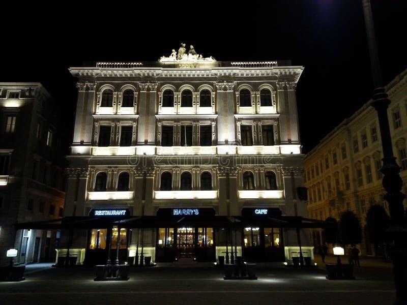 El edificio antiguo de Vanoli en Trieste imagen de archivo libre de regalías