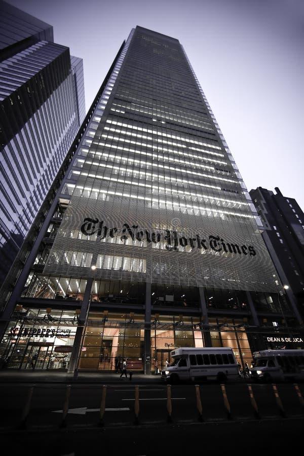 El edificio de New York Times foto de archivo libre de regalías