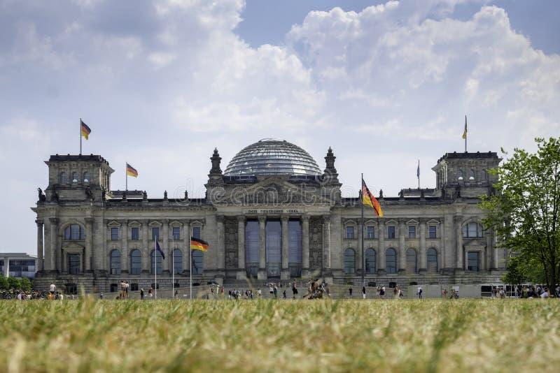 El edificio de Reichstag en Berlín imágenes de archivo libres de regalías