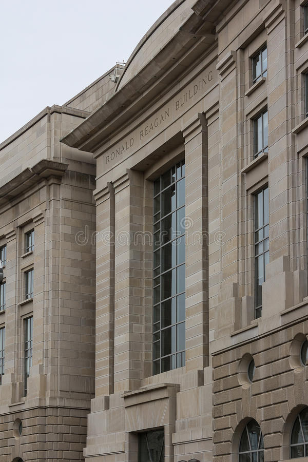 El edificio de Ronald Reagan imagen de archivo libre de regalías