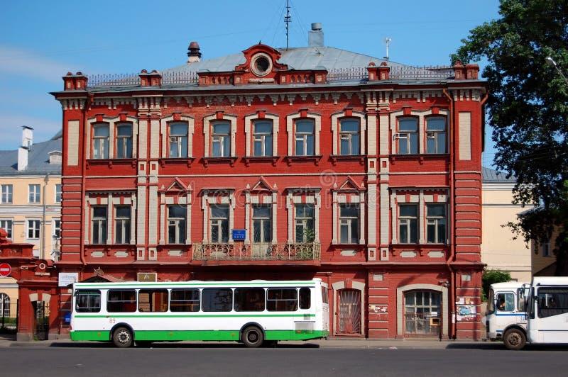 El edificio de un banco anterior de Rusia tsarist fotos de archivo