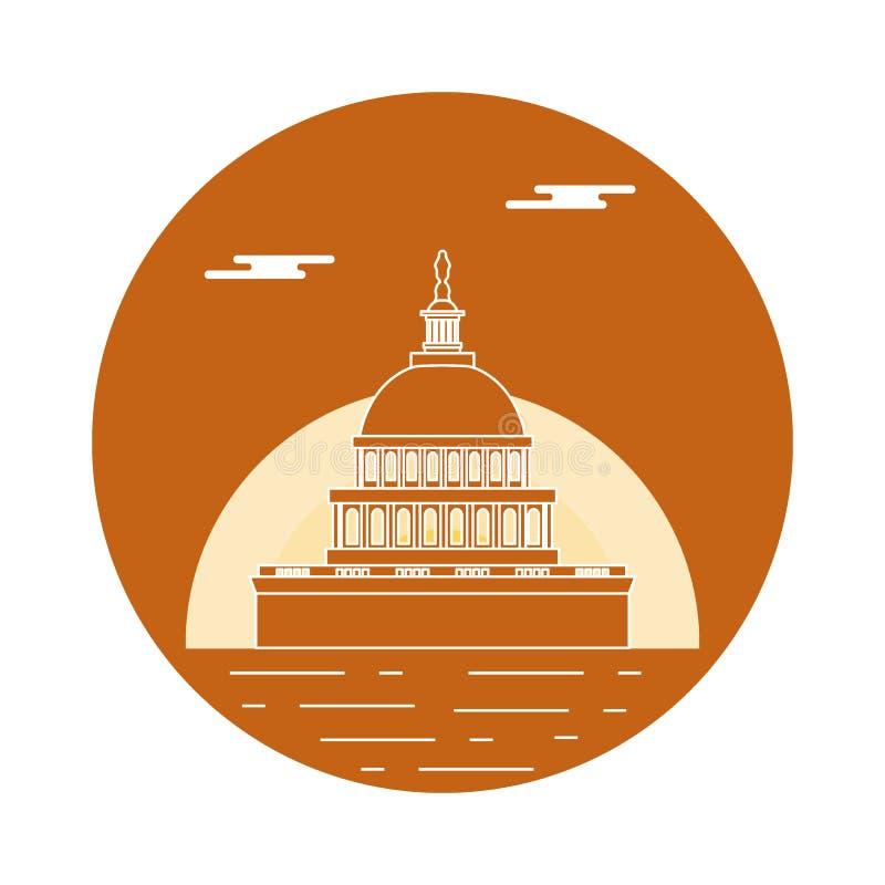 El edificio del capitolio del U S congreso Símbolos americanos libre illustration