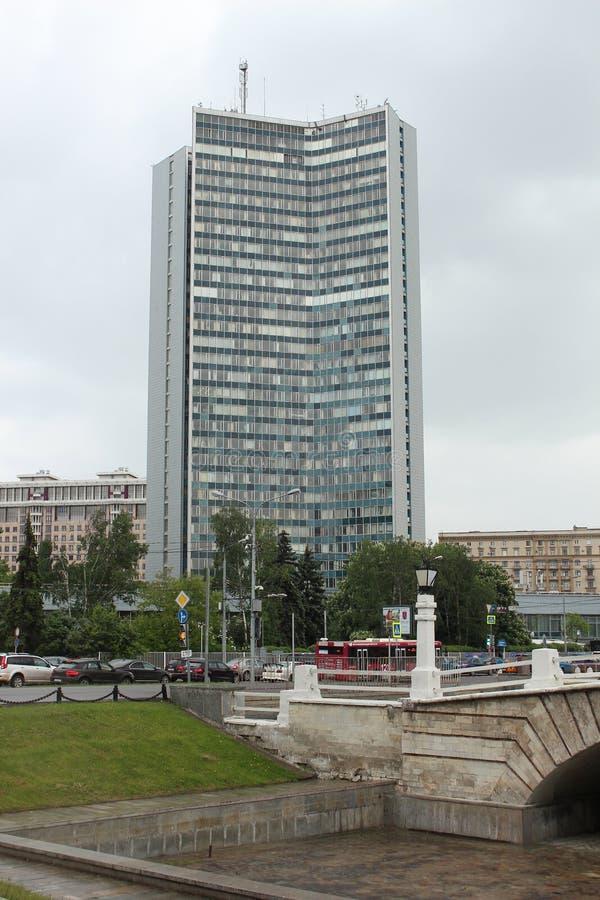 El edificio del comité de la ciudad de Moscú de servicios públicos imagen de archivo