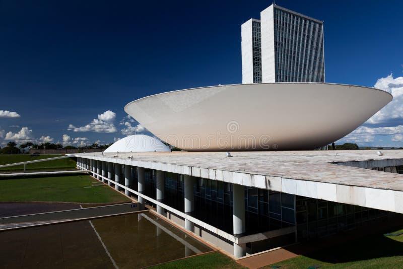 Congreso nacional del Brasil en Brasilia imagen de archivo