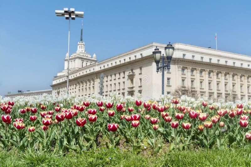 El edificio del Consejo de Ministros en Sofía central foto de archivo libre de regalías
