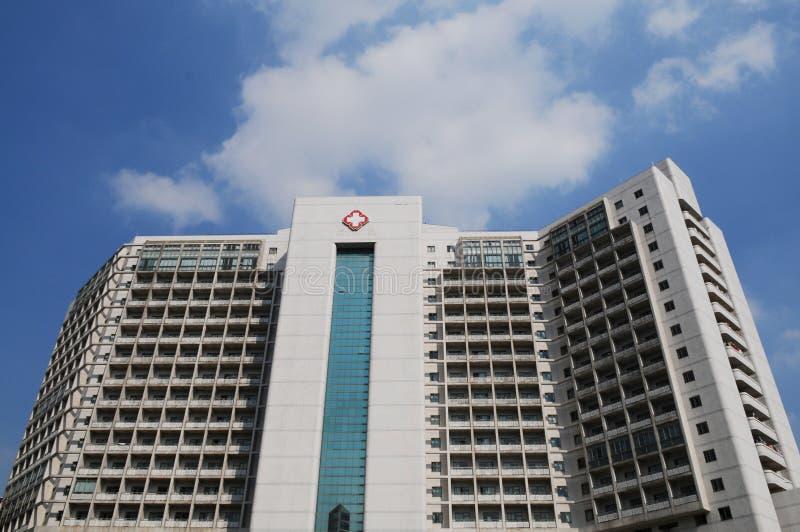 El edificio del hospital fotografía de archivo libre de regalías