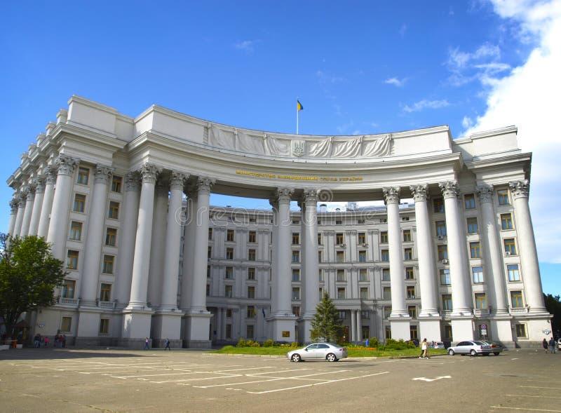 El edificio del Ministerio de Asuntos Exteriores Kiev, Ucrania fotos de archivo