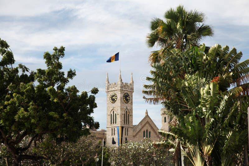 El edificio del parlamento en Barbados imágenes de archivo libres de regalías