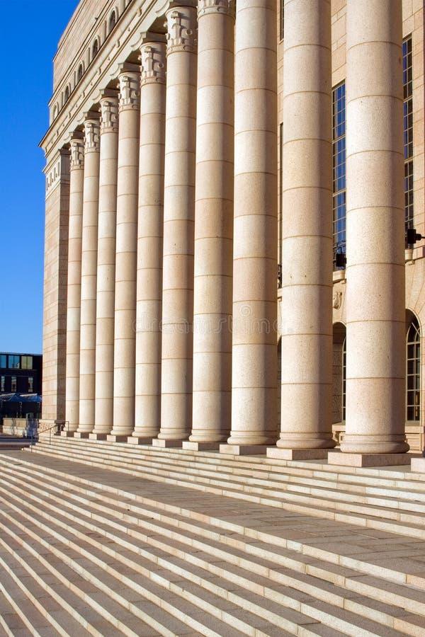 El edificio del parlamento, Helsinki, Finlandia foto de archivo
