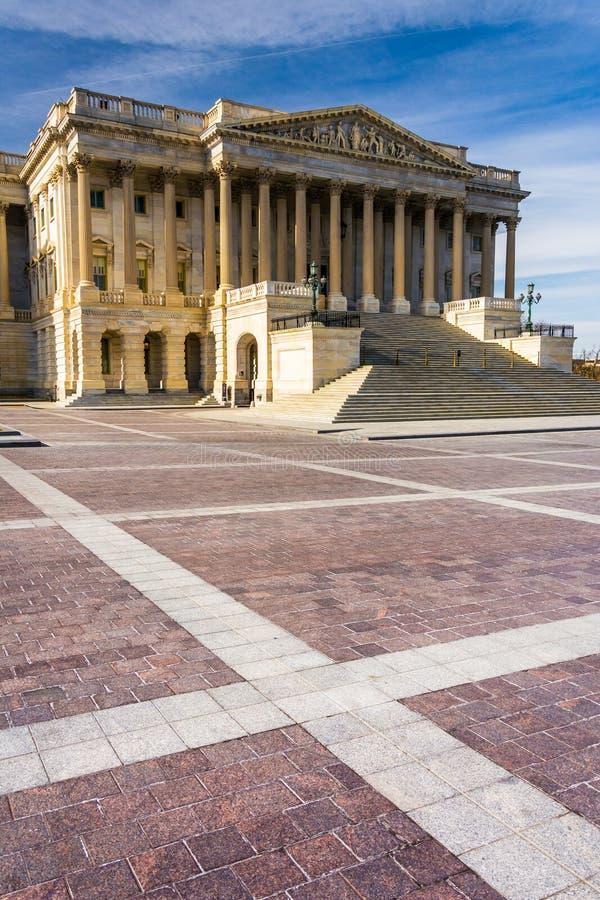El edificio del senado de Estados Unidos, en el capitolio en Washington, imagen de archivo libre de regalías