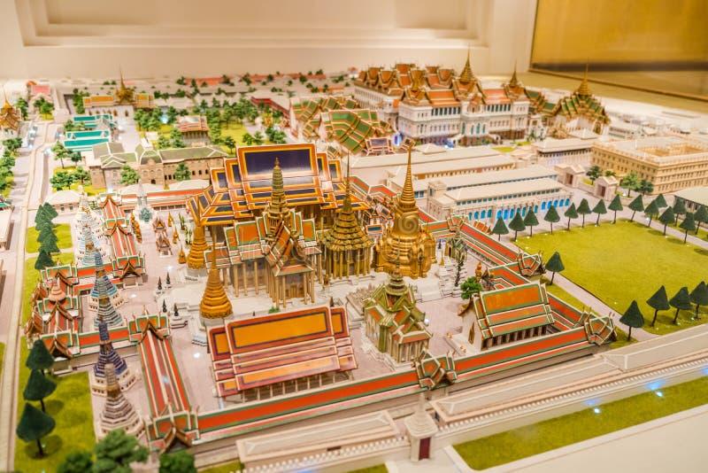El edificio interior de la sala de exposiciones de Rattanakosin en Bangkok, Tailandia imagen de archivo