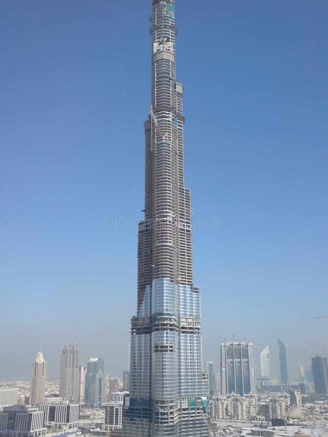 El edificio más alto del mundo bajo construcción, kalifa del burj imagen de archivo libre de regalías