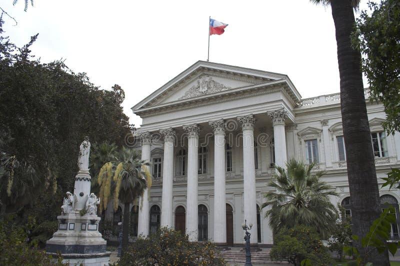 El edificio público Santiago hace Chile fotos de archivo