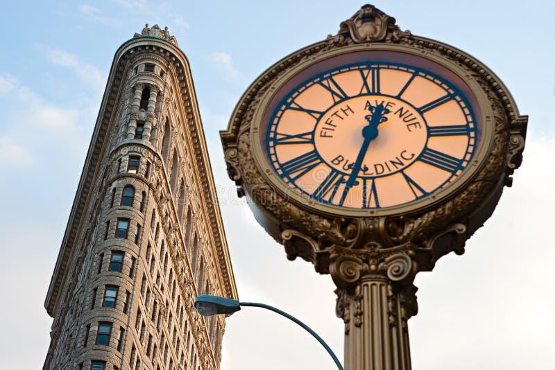 El edificio plano del hierro, Manhattan, New York City. fotografía de archivo libre de regalías