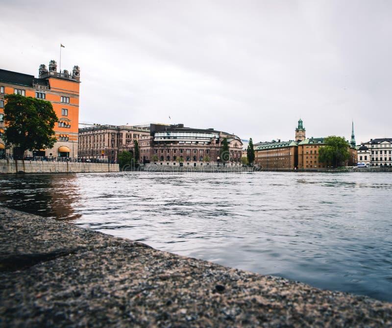 El edificio sueco del parlamento foto de archivo