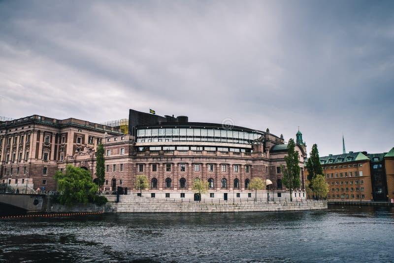 El edificio sueco del parlamento fotos de archivo