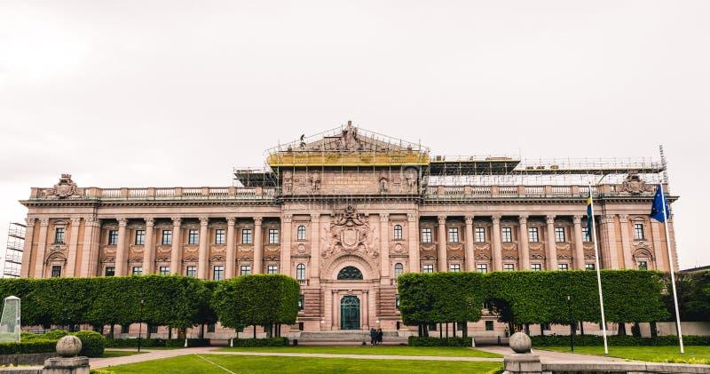 El edificio sueco del parlamento fotografía de archivo libre de regalías