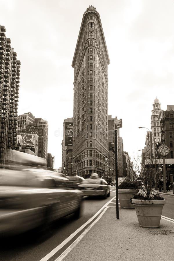 El edificio y el New York City de Flatiron imagenes de archivo