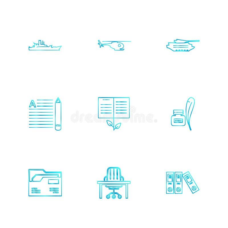 el ejército, armadura, los tanques, armas, guerras, iconos del EPS fijó vector libre illustration