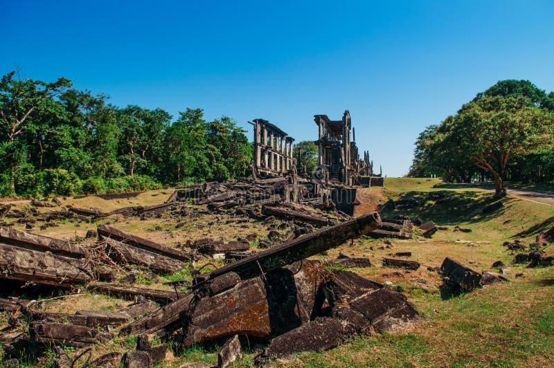 El ejército histórico de la guerra del Pacífico acuartela la isla de Corregidor de las ruinas, Mani fotografía de archivo libre de regalías