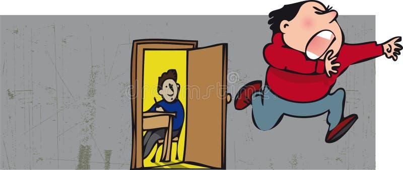 El ejecutarse asustado libre illustration