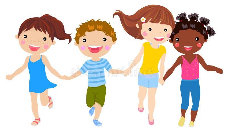 El ejecutarse feliz de los niños libre illustration